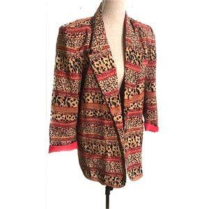 Vintage leopard print blazer